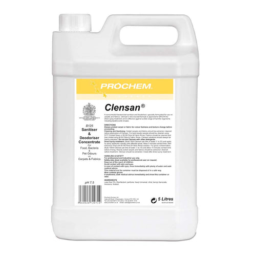 Prochem Clensan 5ltr - Specially Formulated Sanitizer For Carpets And Fabrics -  Chemical - Prochem