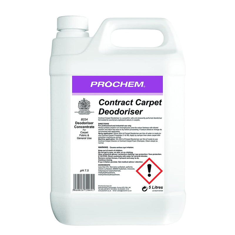 Prochem Contract Carpet Deodoriser - A Powerful, Safe And Pleasantly Perfumed Deodoriser