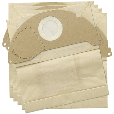 Paper dust bags to fit Karcher WD2, A2004, WD2000, A2000, A2099 - Pack of 5 -  Dustbags - Candor Services