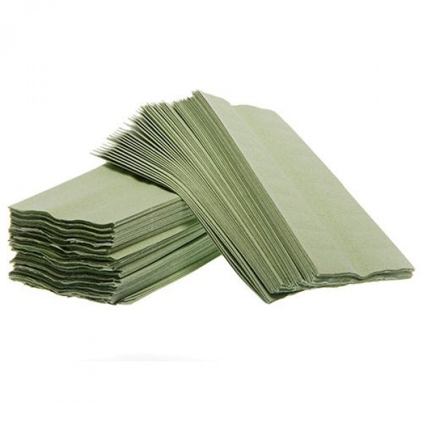 1ply Green C-Fold Towels - Box of 2640 towels