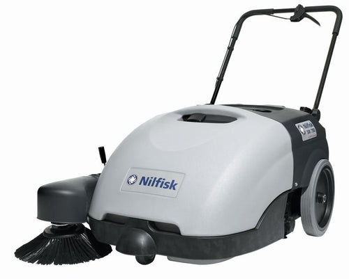 Nilfisk SW750 battery walk behind propelled sweeper