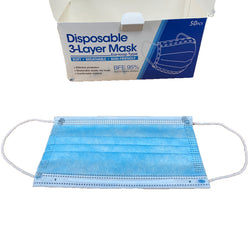 3 Layer Face Masks - Disposable face masks box of 50