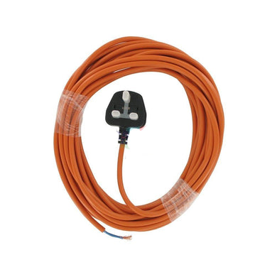 1.5mm 2 Core 15 Metre Cable With Plug Orange