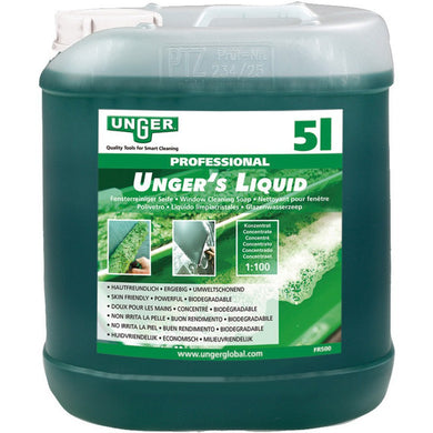 Unger 5L Window Cleaning Soap, Liquid Concentrate - Mixing ratio 1:100