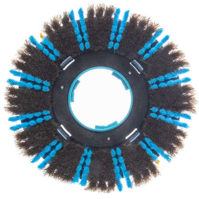 I-Mop XXL natural hair soft brush pair. Blue pack of 2 natural hair brushes