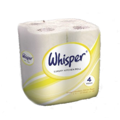 Whisper Embossed 2ply Kitchen Towel - 24 rolls -  Kitchen Towel - Candor Services