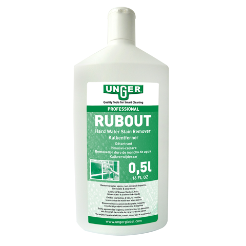Unger RubOut Professional Glass Cleaner - Tough on stains, gentle on glass