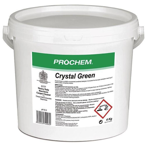 Prochem Crystal Green - Premium non-ionic carpet extraction detergent 4kg -  Chemical - Prochem