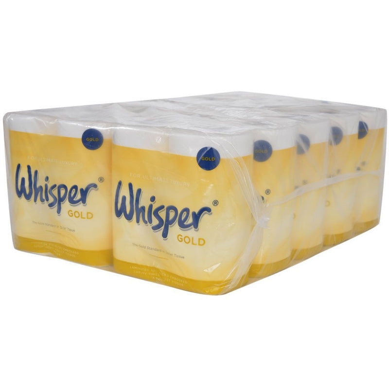 3ply Whisper Gold Luxury Toilet Roll 170 Sheets Per Roll - 40 Rolls