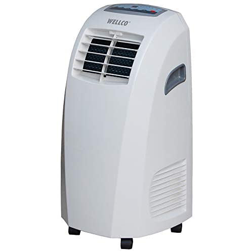 Wellco 3-in-1 Portable Air Conditioner 9000 BTU with Remote Control, Dehumidifying & Fan Function with Timer, Class A Efficiency Rating