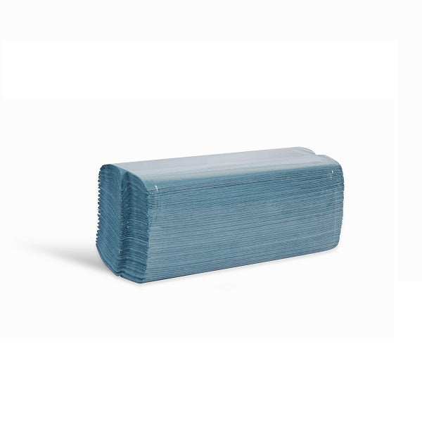 1ply blue c-fold hand towels - 2640 sheets