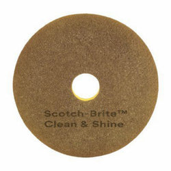 "12 inch 3M Clean And Shine Scotch-Brite Floor Pads 12"" - Pack of 5 -  Floor Pad - 3M"