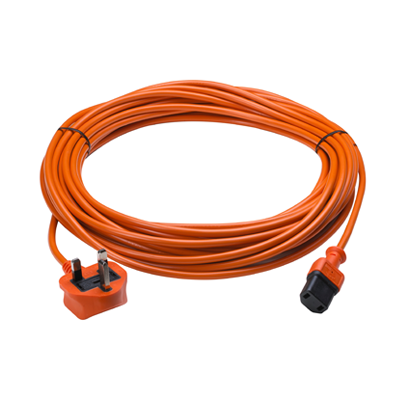 12 Meter 1mm 2 core Orange cable - Fits commercial Sebo Evolution range including Evolution 300, 350, 450 and ePower range -  Vacuum Cleaner Cable - Candor Services