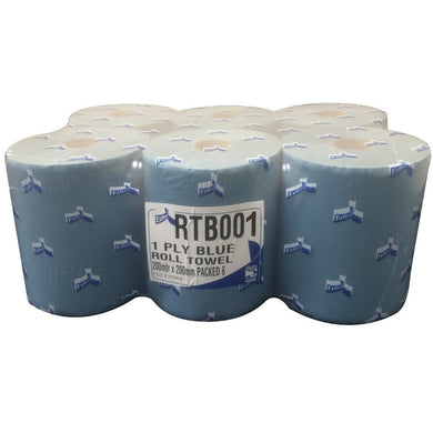 1 Ply Blue Roll Towel - 200mm x 200 Meters -  Roll Towel - Candor Services
