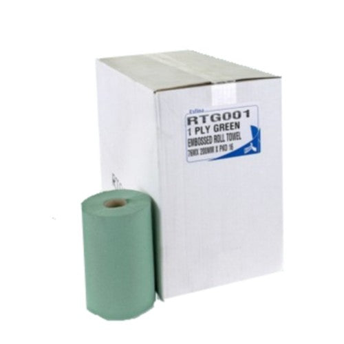 1 Ply Green Roll Towel - 200mm x 76 Meters -  Roll Towel - Candor Services