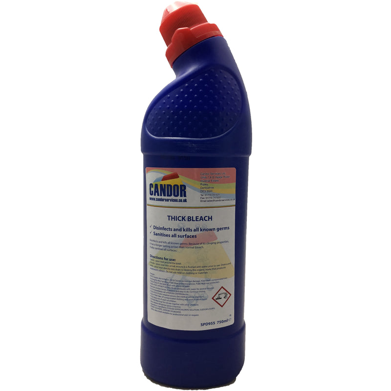 Candor 750ml thick bleach - Case of 12 bottles