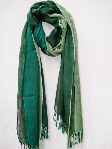 Three Layer Handwoven Wool Scarf