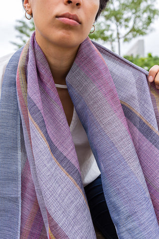 Handwoven Scarf - Lavender