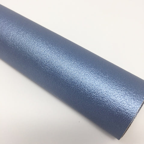 Metallic Dust Blue Faux Leather