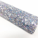 Silver Mixed Colors Numbers Chunky Glitter
