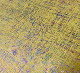 Mellow Yellow Metallic 80's Print Faux Leather