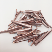 Rose Gold Matte Alligator Clip