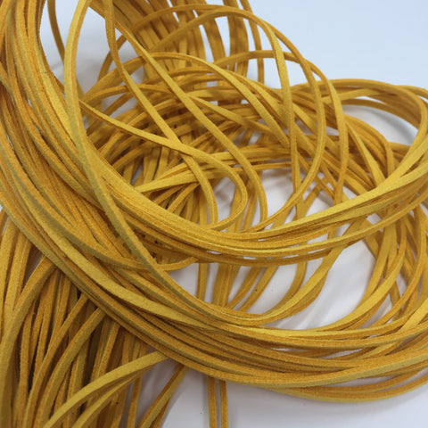 Sunshine Yellow Faux Suede Cord 5 yards