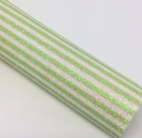 Green Stripes Fine Glitter