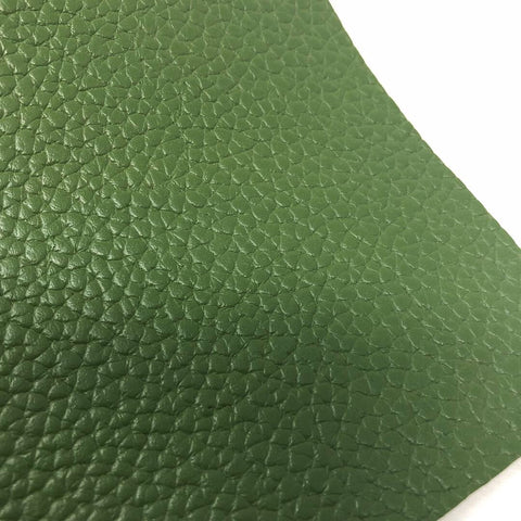 Army Green Textured Faux Leather