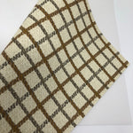 CLOSEOUT Butter Cream Plaid Printed Faux Leather