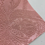 Metallic Rose Embossed Textured Faux Leather