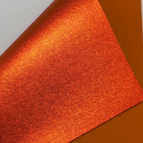 Metallic Orange Felt