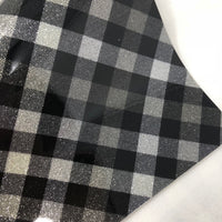 Imperfect Silver Plaid Patent Faux Leather