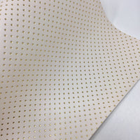 Cream and Gold Embossed Dots Canvas
