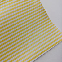 Yellow and White Printed Faux Leather