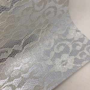 Imperfect Silver Lace Textured Faux Leather