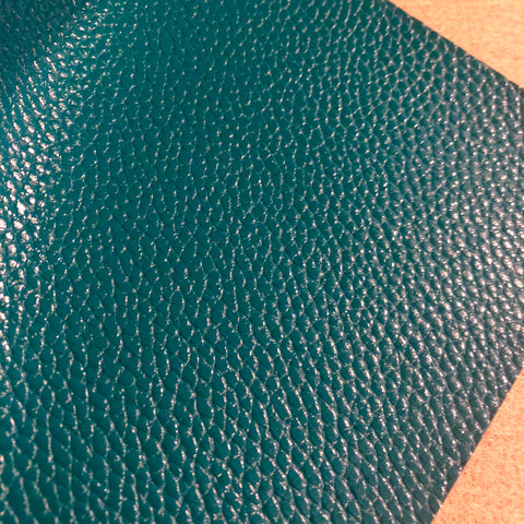 Dark Emerald Green Textured Faux Leather