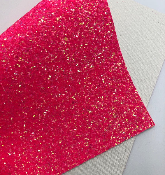 Juicy Neon Pink Chunky Glitter Sheet