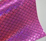 Hot Pink HOLO Mermaid Scales Embossed Canvas