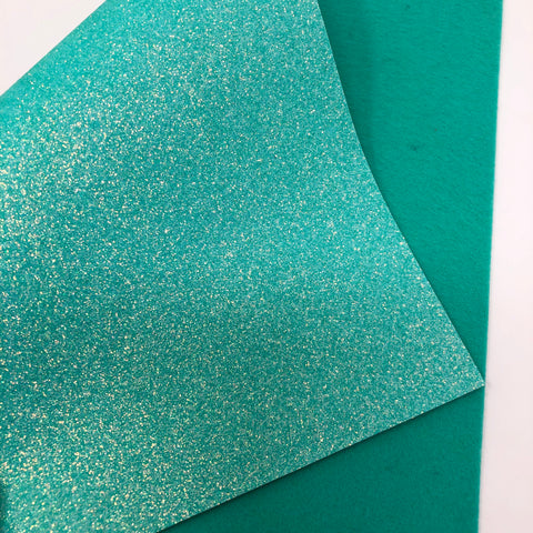 Tiffany Blue Unicorn Glitter Felt