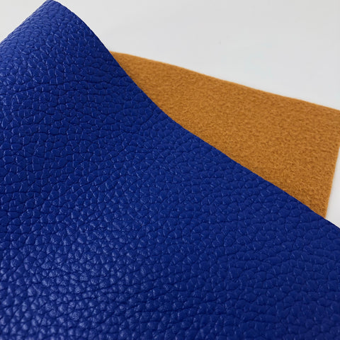 Blue Textured Faux Leather