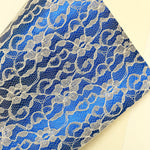 Royal Blue Lace Textured Faux Leather