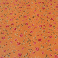 Tangerine Tiny Flowers Faux Leather