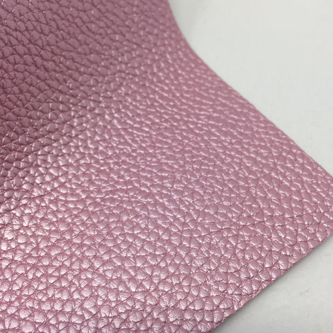 Imperfect Metallic Pink Textured Faux Leather