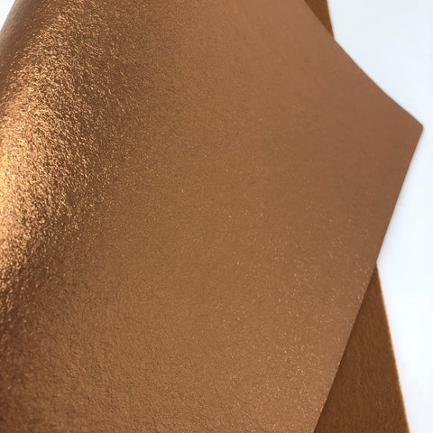 Metallic Bronze Felt