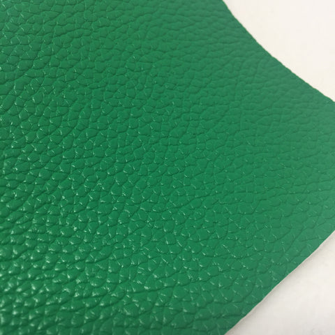 Green Textured Faux Leather