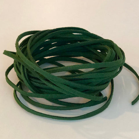 Hunter Green Faux Suede Cord 5 yards