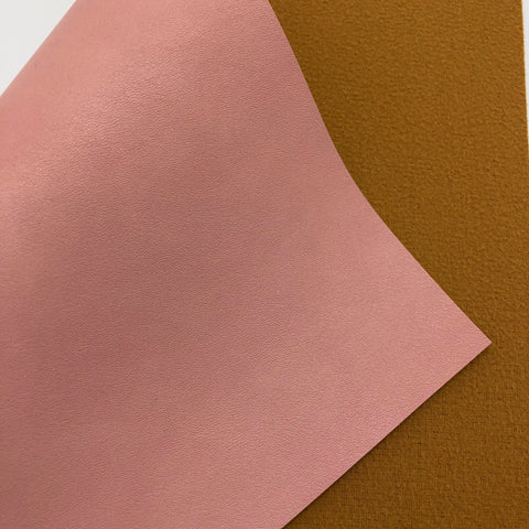 Petal Pink Smooth Faux Leather