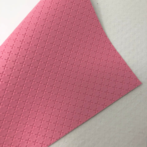 Pink Embossed Exes Textured Faux Leather