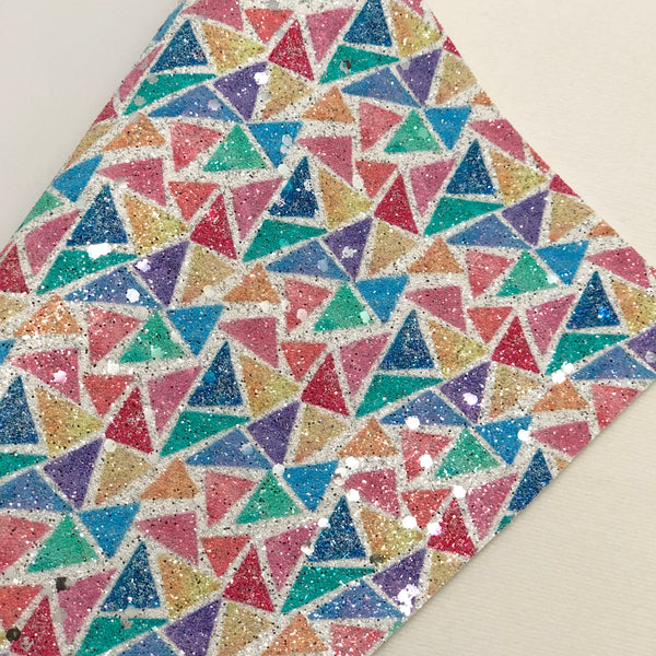 Rainbow Triangles Glitter